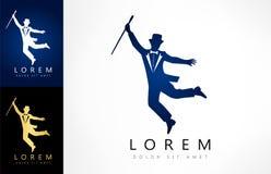 Logotipo de la silueta del empresario libre illustration