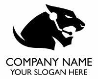 Logotipo de la silueta del tigre del operador Fotografía de archivo