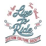 Logotipo de la sociedad del motorista Fotografía de archivo