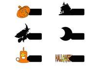 Logotipo de la tarjeta de Halloween Ilustración del Vector
