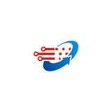 Logotipo de la tecnología de la flecha del círculo Foto de archivo libre de regalías