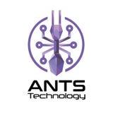 Logotipo de la tecnología de las hormigas Foto de archivo libre de regalías