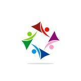 Logotipo de la tecnología del remolino del extracto del círculo Imagenes de archivo