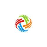 Logotipo de la tecnología del remolino del extracto del círculo Fotos de archivo