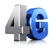 logotipo de la tecnología inalámbrica de 4G LTE Fotografía de archivo libre de regalías