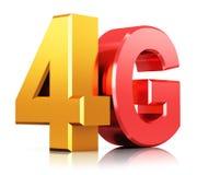 logotipo de la tecnología inalámbrica de 4G LTE Imagen de archivo