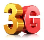 logotipo de la tecnología inalámbrica 3G ilustración del vector