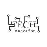 Logotipo de la tecnología Letras quebradas Diseñe el elemento para el logotipo, etiqueta, emblema, compañía del nombre Fotografía de archivo