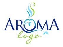 Logotipo de la terapia del aroma stock de ilustración