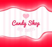 Logotipo de la tienda del caramelo Fotografía de archivo