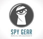 Logotipo de la tienda del espía ilustración del vector