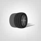 Logotipo de la tienda del neumático Imagenes de archivo