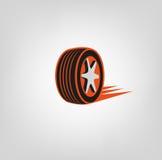 Logotipo de la tienda del neumático Imagen de archivo