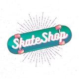 Logotipo de la tienda del patín Imagen de archivo
