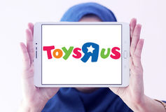 Logotipo de la tienda de los niños de Toys R Us Fotografía de archivo libre de regalías