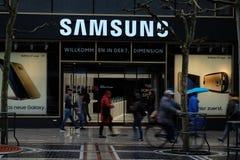 Logotipo de la tienda de Samsung en Francfort fotografía de archivo libre de regalías