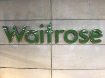 LOGOTIPO de la tienda de Waitrose, Londres foto de archivo