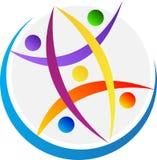 Logotipo de la tierra de la gente Imagen de archivo libre de regalías
