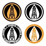 Logotipo de la torre de perforación de aceite Fotografía de archivo