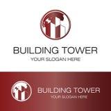 Logotipo de la torre del edificio Imagenes de archivo