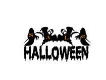 Logotipo de la venta de Halloween Stock de ilustración