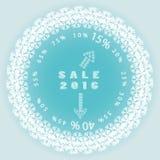 Logotipo de la venta de la Navidad con las flechas Imágenes de archivo libres de regalías