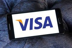 Logotipo de la visa imágenes de archivo libres de regalías