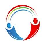 Logotipo de las conexiones de la gente del trabajo en equipo Fotografía de archivo