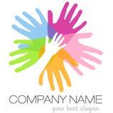 Logotipo de las manos Fotos de archivo libres de regalías