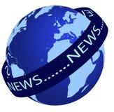 Logotipo de las noticias de mundo imagenes de archivo