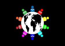 Logotipo de las personas del equipo diez Concepto de colaboración de la reunión de grupo de personas y de gran trabajo Grupo de h stock de ilustración