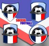 Logotipo de las plantillas de Francia Imagen de archivo libre de regalías