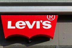 Logotipo de Levi Strauss en una pared imagen de archivo libre de regalías