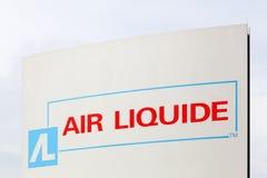 Logotipo de Liquide del aire en un panel Foto de archivo
