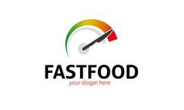 Logotipo de los alimentos de preparación rápida stock de ilustración