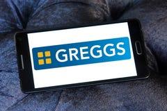 Logotipo de los alimentos de preparación rápida de Greggs Fotos de archivo libres de regalías
