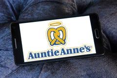 Logotipo de los alimentos de preparación rápida de los annes de la tía Fotos de archivo