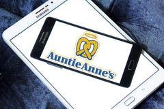 Logotipo de los alimentos de preparación rápida de los annes de la tía Fotos de archivo libres de regalías