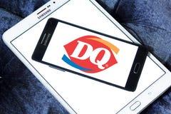 Logotipo de los alimentos de preparación rápida del dq de la reina de la lechería Imagenes de archivo