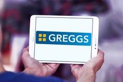 Logotipo de los alimentos de preparación rápida de Greggs Foto de archivo libre de regalías