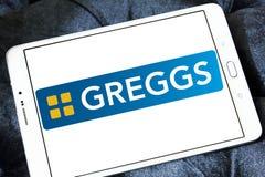 Logotipo de los alimentos de preparación rápida de Greggs Imagenes de archivo