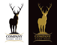 Logotipo de los ciervos del macho stock de ilustración