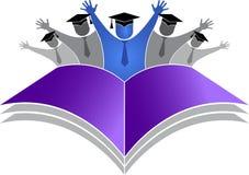 Logotipo de los estudiantes de la graduación Imagen de archivo libre de regalías