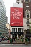 Logotipo de los grandes almacenes del ` s de Macy Foto de archivo