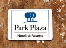 Logotipo de los hoteles y de los centros turísticos de la plaza del parque Fotografía de archivo
