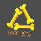 Logotipo de los huesos para los perros Foto de archivo libre de regalías