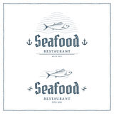 Logotipo de los mariscos Foto de archivo
