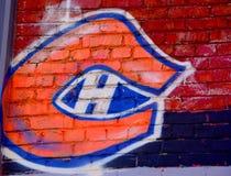 Logotipo de los Montreal Canadiens del arte de la calle Imagen de archivo libre de regalías