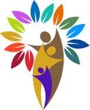 Logotipo de los pares del árbol Imagen de archivo libre de regalías