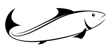 Logotipo de los pescados de mar Foto de archivo